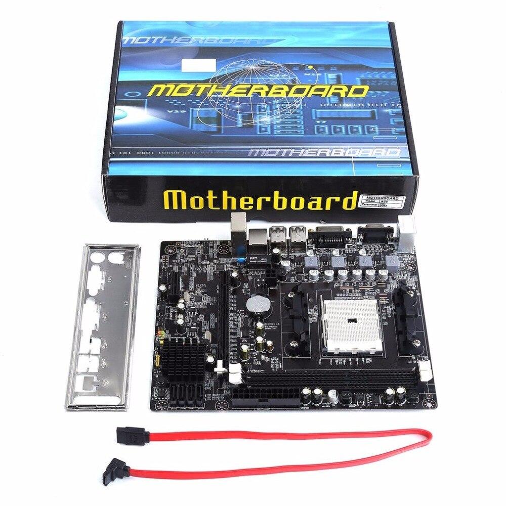Motherboard A55 Desktop Supports For Gigabyte GA A55 S3P A55-S3P DDR3 Socket FM1 Gigabit Ethernet Mainboard msi a55 g45 original used desktop motherboard a55 socket fm1 ddr3 sata2 usb2 0 atx