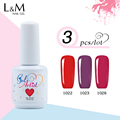 3pcs Uv Gel Brand Gelartist Pure Nail Gel Polish 237colors for choose
