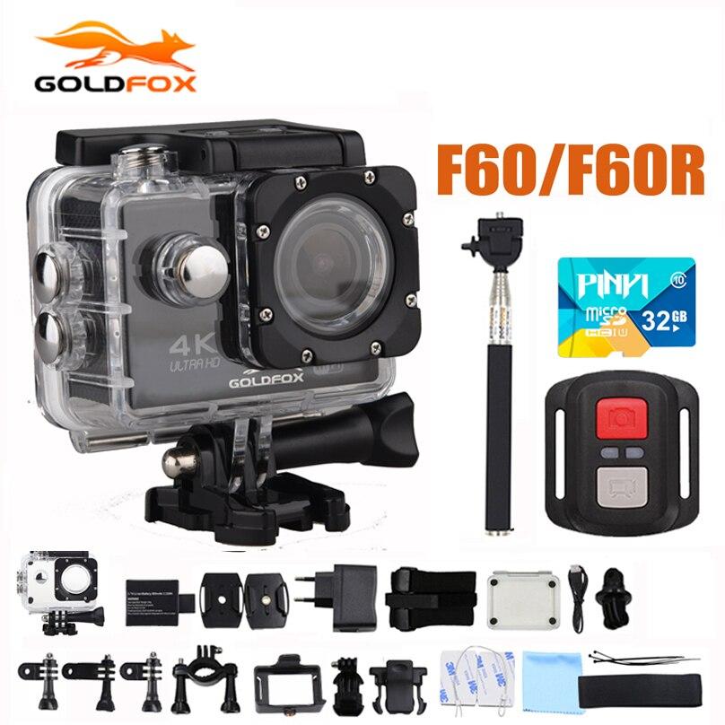 Действие Камера f60/f60r Allwinner V3 Ultra HD 4 К 30fps 1080 P 60fps WI-FI Спорт Камера 30 м go Водонепроницаемый Pro велосипед шлем Мини Cam
