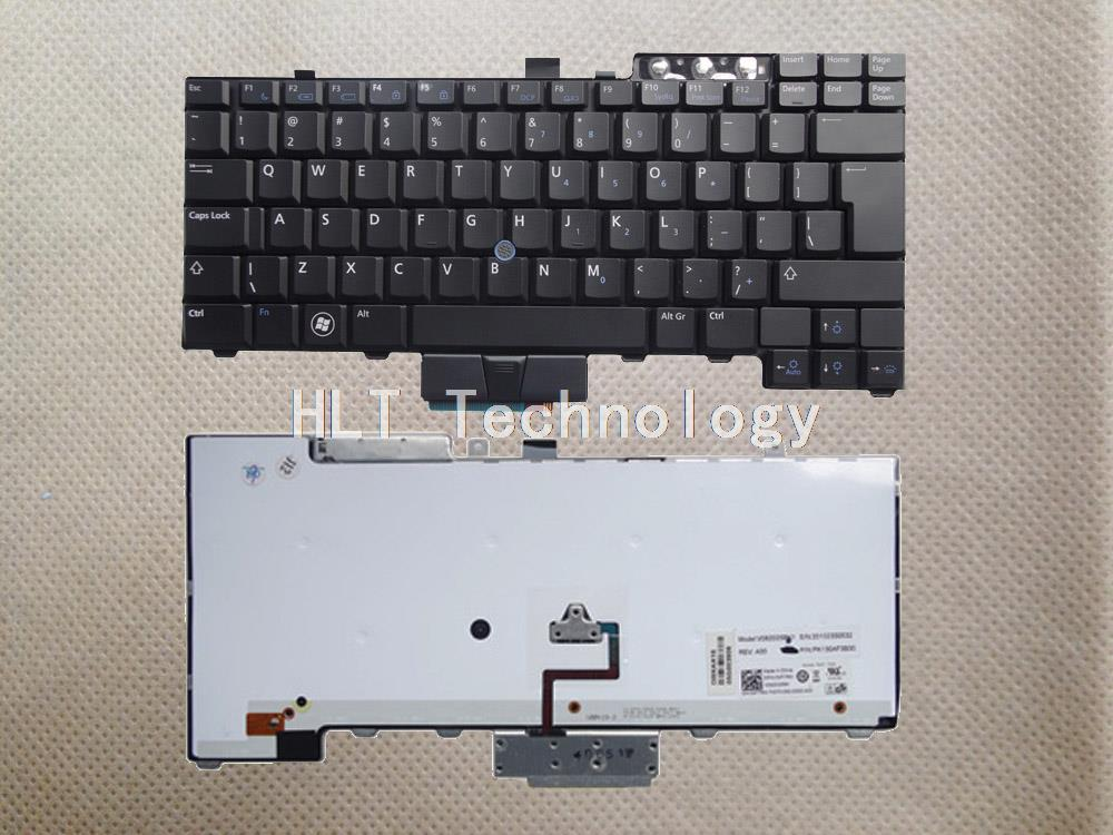 Original and New Black US Backlight keyboard for DELL E6400 <font><b>E6410</b></font> M2400 E6500 M4500 440 Good work! image