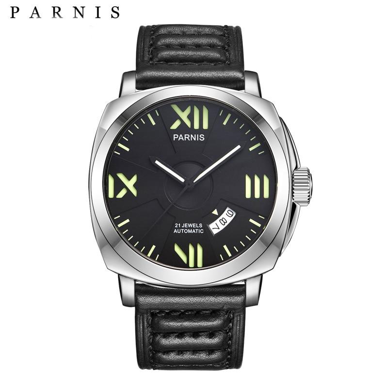 2017 Nuevo Arrivas Mens Reloj Automático Parnis 44mm Relojes - Relojes para hombres