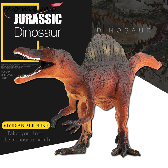 MOMEMO Dinosaur Spinosaurus Jurassic World Park Big Size Plastic Dinosaur Toys Dinosaurs Action Figure Model Set Dinosaurios Toy
