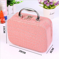 Women Portable Cosmetic Bag Storage Bag Hight Quality Cosmetic Case Fashion Crocodile Waterproof Travel Bag