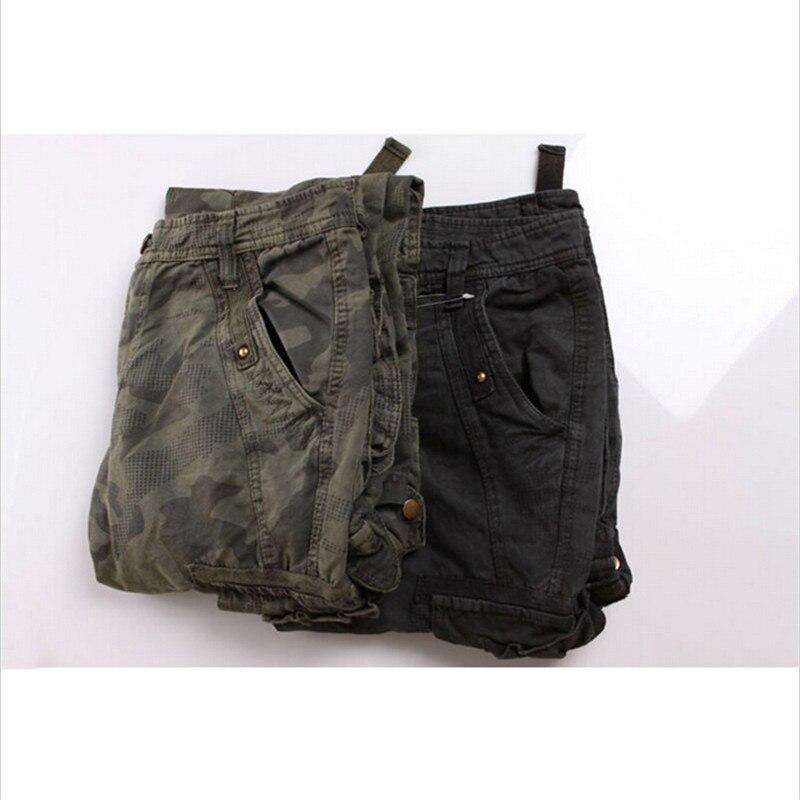 Loose Cotton Length Multi-Pockets