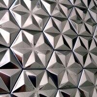 self adhesive silver snowflake design stainless steel metal mosaic tiles for kitchen backsplash tiles bedroom Conservatory