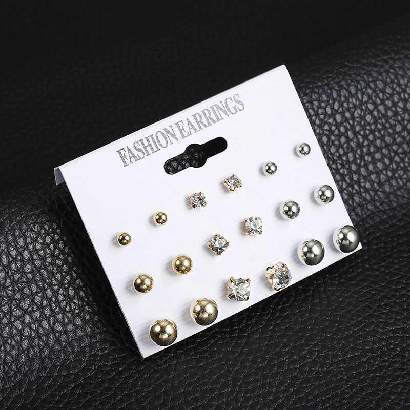 2019 New Hot Sell Small Stud Earrings Set For Women Girl Punk Stud Earrings Set Personality Party Jewelry Fashion Brincos