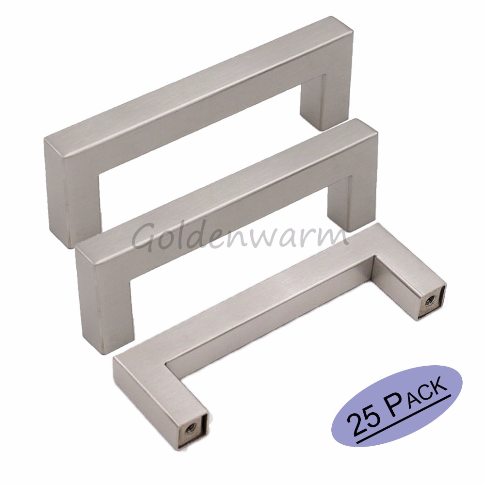 Big Sale 1212mm Square Bar Door Handle Mirror Brushed Stainless