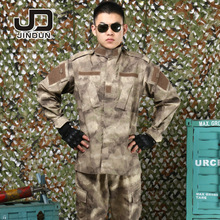 Camouflage suit Tactical Military uniform combat uniform Set Hiking Outdoors Army Sport Suit Training Hunting Jacket + Pants