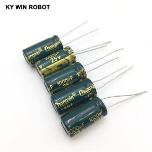 Image 4 - شحن مجاني 10 قطعة مكثف كهربائي من الألومنيوم 1000 فائق التوهج 25 فولت 10*20 مكثف كهربائيا رائج البيع