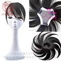 9*8.5*8.5 см Все ручной Топ система Кожа конский волос Женщины Человека Клип в парики мужчины Замена системы Волос мужские парики