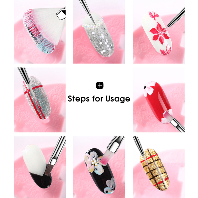 ROHWXY Nail Brush For Manicure Gel Brush For Nail Art 15Pcs/Set Ombre Brush For Gradient For Gel Nail Polish Painting Drawing 2