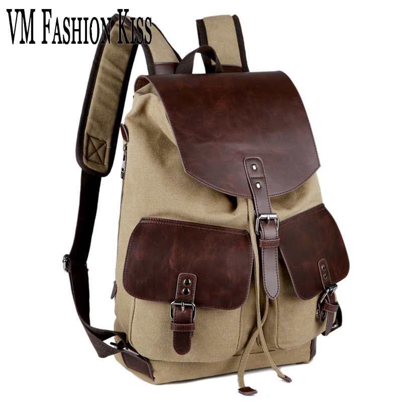 Clearance sale No quality problem Casual Backpack School Leather Bag Canvas Designer backpacksTravel Large Capacity евгений поляков no problem
