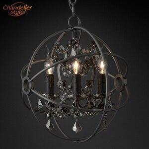 Image 2 - Feucault lustre suspendu en cristal, forme Orb, design rustique, éclairage dintérieur, luminaire dintérieur, luminaire dintérieur, idéal pour un hôtel, modèle pendentif LED
