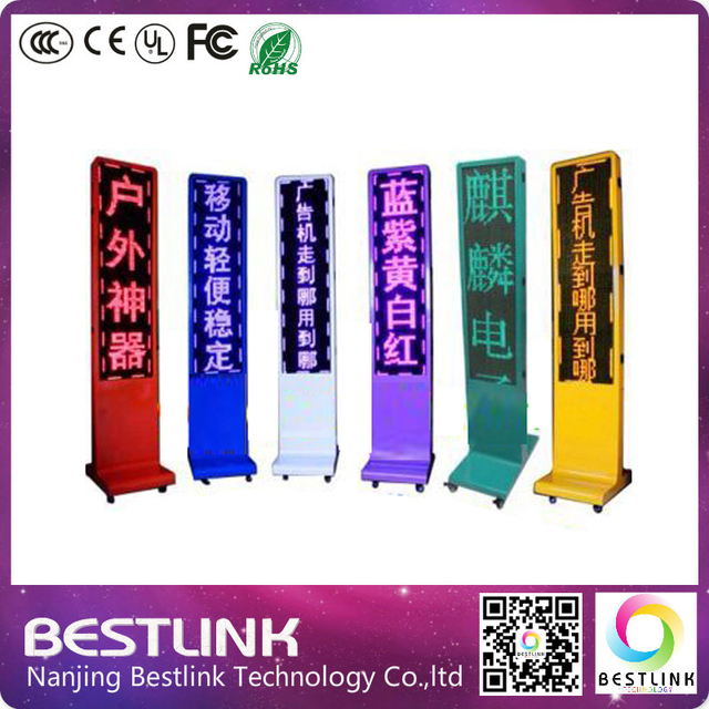 P10 outdoor rgb full color led screen, moving led messages programmable led display panel, double side led advertising billboard