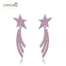 2016 Trendy star crystal Long Tassels Drop earrings for girls Vintage earring brincos women jewelry