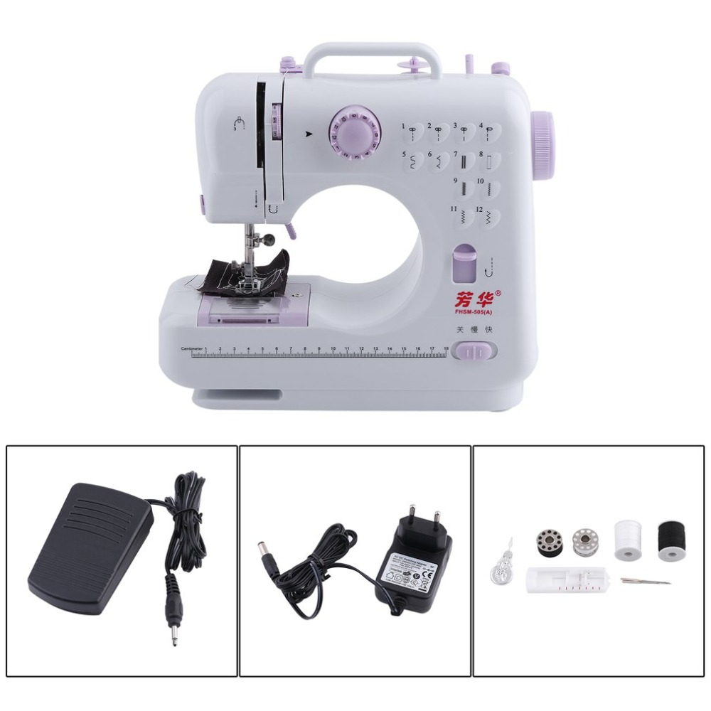 New Arrival Desktop Portable Double Thread Double Speed 12 Pre-Set Stitches Mini Household Sewing Machine 505A Presser FootNew Arrival Desktop Portable Double Thread Double Speed 12 Pre-Set Stitches Mini Household Sewing Machine 505A Presser Foot