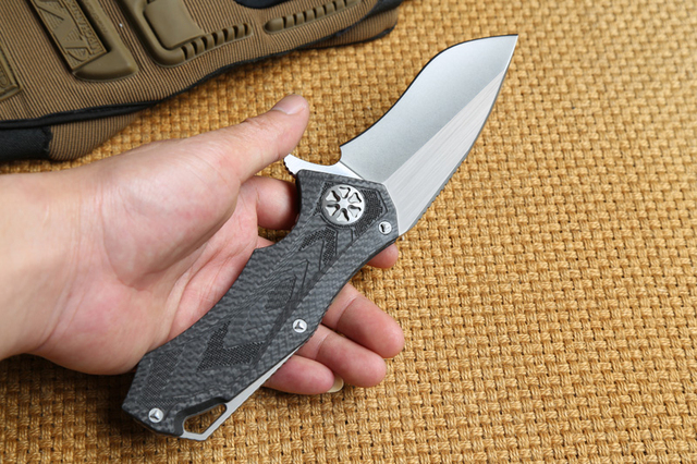 DICORIA Star Lord DAIDO D2 blade with carbon fiber handle