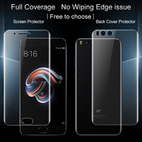 Xiaomi Mi Note 3 Screen Protector IMAK 3D Full Cover 2pcs Front 2pcs Back Soft Hydrogel