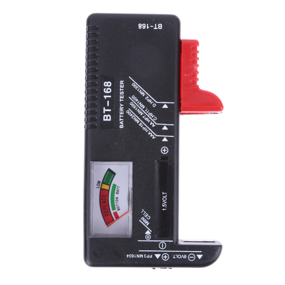 BT-168 Digital Battery Tester Universal Electronic Battery Checker for AA AAA 9V Button Multi Size Volt Meter Measuring Tool цена и фото