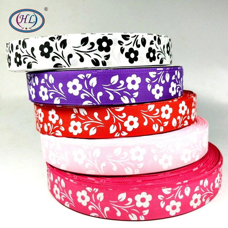 HL 1 «5 м/лот 5 цветов Grosgrain ленты аксессуары для шитья DIY Подарочная коробка Упаковка Свадебная вечеринка декоративные