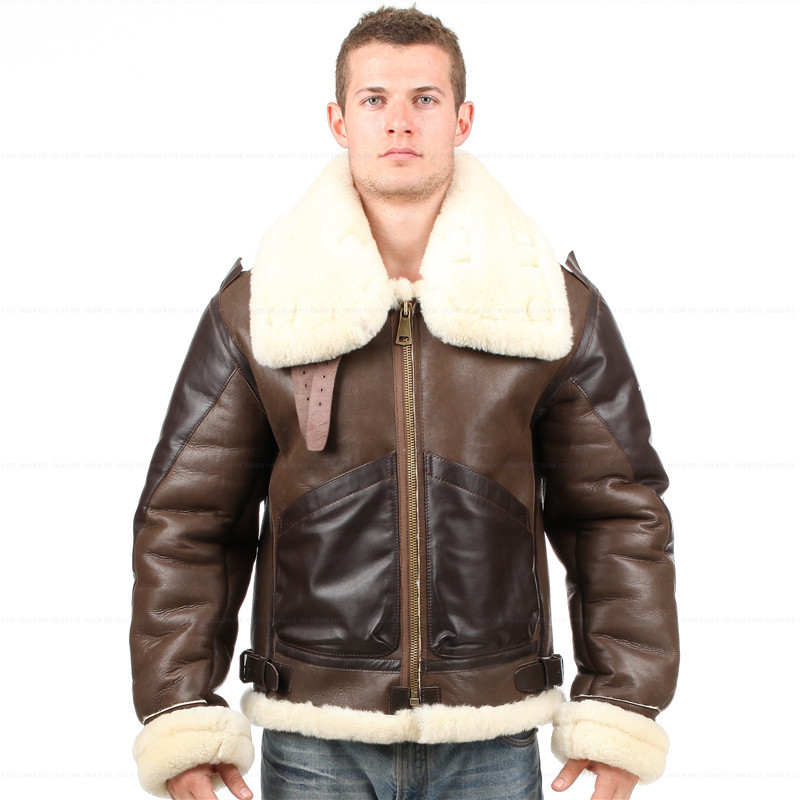 Popular Leather Sheepskin Flying Jacket-Buy Cheap Leather