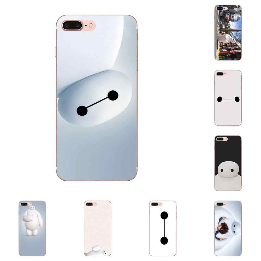 Big Hero 6 Six Smile Baymax cara blanca Delgada funda de silicona para Apple iPhone 4 4S 5 5C 5S SE 6 6 S 7 7 8 Plus X XS X Max XR