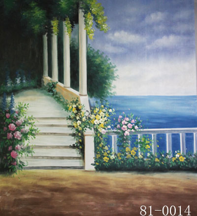 Spring scenic Backdrop 014,10ft x20ft Hand Painted muslin ...