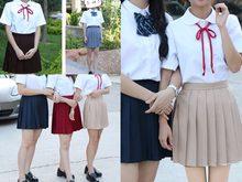 Plaid skirt asian girls