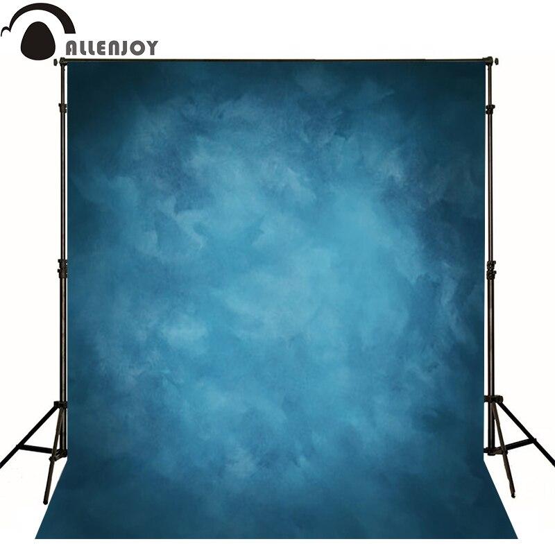 Prix pour Allenjoy Mince tissu Vinyle photographie Toile de Fond bleu Fond Pour Studio Photo Pur Couleur photocall toile De fond De Mariage MH-076