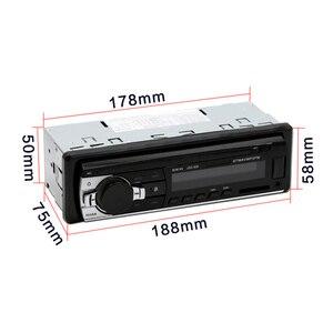 Image 4 - Авторадио Podofo JSD 520, автомагнитола с Bluetooth, 1 Din, 12 В, автомобильное радио с SD картой, MP3 плеером, авто стерео FM приемник с aux выходом