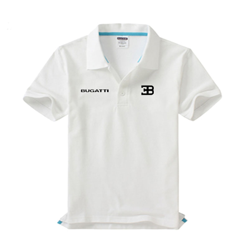 Brand clothing Bugatti logo   Polo   Shirt Casual solid male Bugatti   polo   shirt Short Sleeve High quality