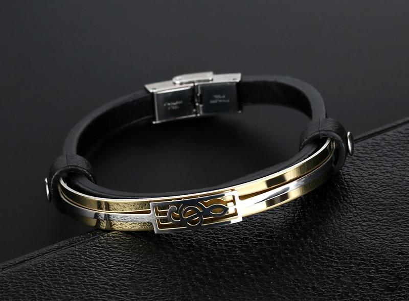 liujun Treble Clef Stainless Steel Musical Bracelet 3