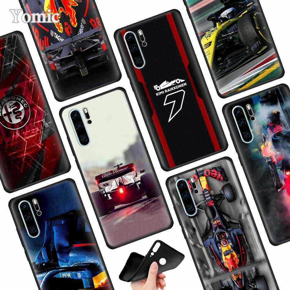 for Formula 1 Back Silicone Case for Huawei P30 P20 Pro P9 P10 P20 P30 Lite P Smart Plus Mate 10 20 Pro Case