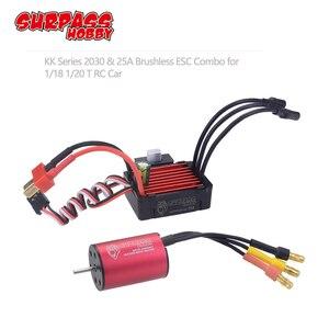 Image 1 - Surpasshobby kk 防水コンボ 2030 6500KV 7200KV 4500KV 2 ブラシレスモーター w/ 25A esc 1:20 1:18 gtr/レクサス rc ドリフトレース