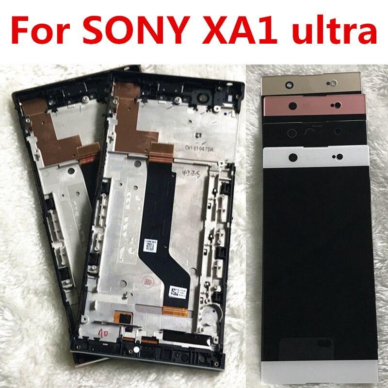 Pour Sony Xperia XA1 Ultra G3221 G3212 G3223 G3226 Lcd écran Avec Écran Tactile En Verre Digitizer Assemblée Pièces De Rechange avec cadre