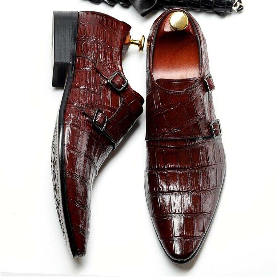 Ayakk.'ten Resmi Ayakkabılar'de Hakiki inek deri brogue iş Düğün ayakkabı erkekler casual flats ayakkabı vintage el yapımı ayakkabı oxford ayakkabı erkekler için bahar'da  Grup 2