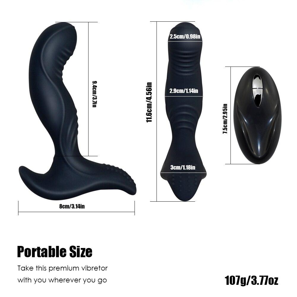 _07USB Charging Wireless Remote Anal Plug Vibrator Prostate Massager Man Masturbator Silicone Butt Plug Vibrator Gay Anal Sex Toys