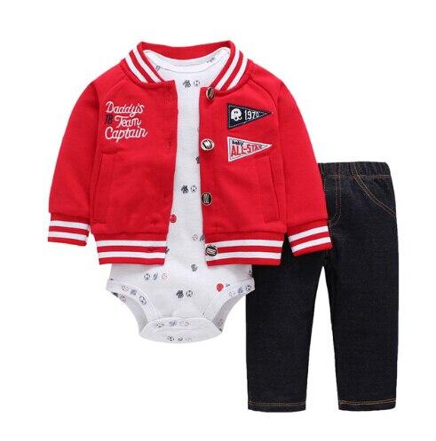Newborn Baby Boy Girls 3 Pieces Set Clothes Hooded Zipper Full Sleeve Open Flowers Coat+Full Sleeve Bodysuits+Pants