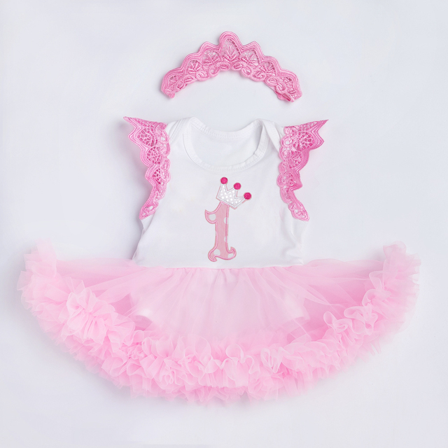 c68a5906f YK&Loving Light Pink Tutu Dress Baby Girls Clothing Embroidery Cute Mesh  Dresses 1 Birthday Gift Newborn Toddler Clothing Newest