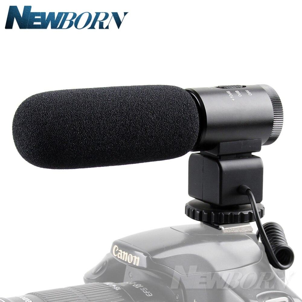 MIC-02 À Condensateur Professionnel Caméra Micro pour Canon EOS M2 M3 M5 M6 800D 760D 750D 77D 80D 5Ds R 7D 6D 5D Mark IV
