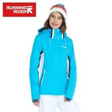 Running river marca mulheres jaqueta de esqui 4 cores do tamanho s-3XL Mulheres Casaco de Inverno Esportes Ao Ar Livre Jaqueta De Esqui De Neve À Prova D' Água # J3158