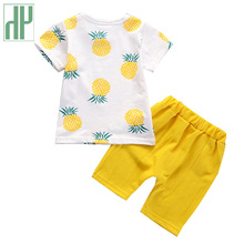 Kids Boys Summer Clothes Fashion Cotton Set Printed Fruit Sports Suit T-shirt + Shorts Children's Clothing Baby Girl Outfits