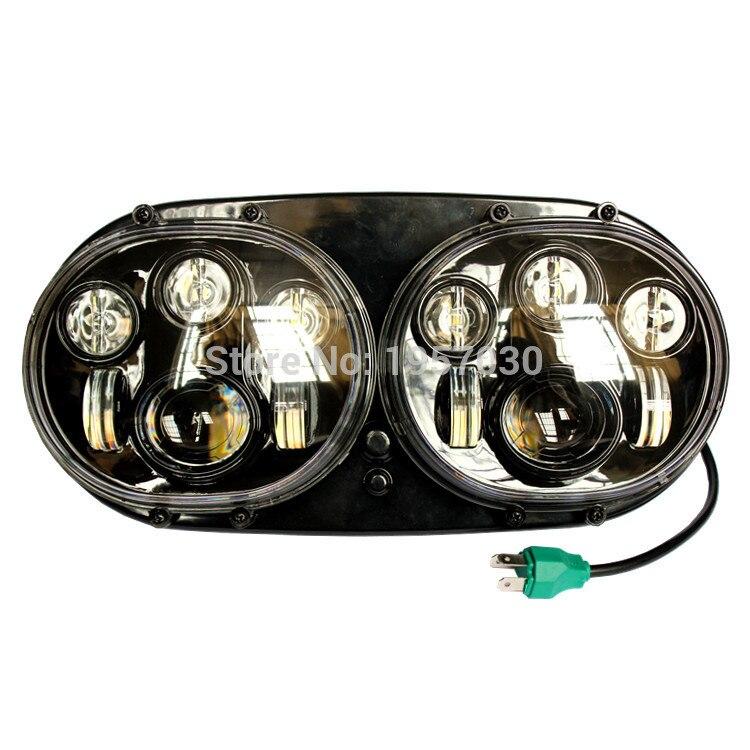 1 шт 7 дюймов 90 Вт двойная фара для Harley Davidson дорожного Glide daymaker LED мотоциклов проектор высокая/низкая луч двойной налобный фонарь