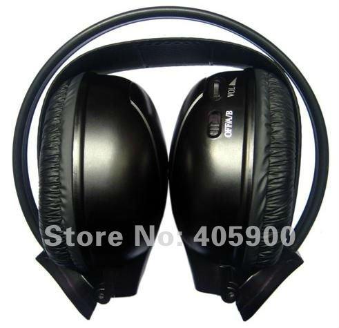infrared ir wireless 2 channel stereo headphones for car dvd playerheadrest dvd player for kids children foldable design