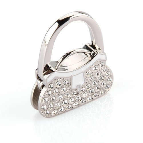 TEXU Metal RhInestone Folding Handbag Purse Table Hook Hanger BAG Holder Black Friday