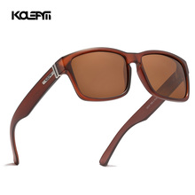 KDEAM Metal Hinge TR90 Polarized Sunglasses Men Sport Eyewear Unbreakable Frame Square Oversized Outdoor KD747-C5