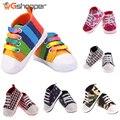 12 Cores Sapatos Listrados Coloridos Sapatos Recém-nascidos Da Criança Infantil Unisex Menina Menino Esportes Dos Miúdos Sneakers Bebe Sapatos de Bebê Fundo Macio