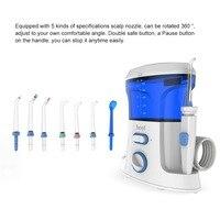 Oral Irrigator USB Rechargeable Water Flosser Portable Dental Water Jet 600ML Water Tank Waterproof Teeth Cleaner