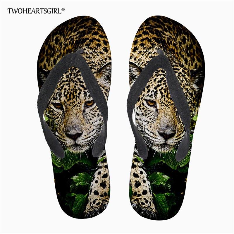2019 Latest Design Twoheartsgirl Men Slippers Casual Cool Leopard Printed Shoes Non-slip Slides Bathroom Summer Sandals Soft Sole Flip Flops Man Men's Shoes