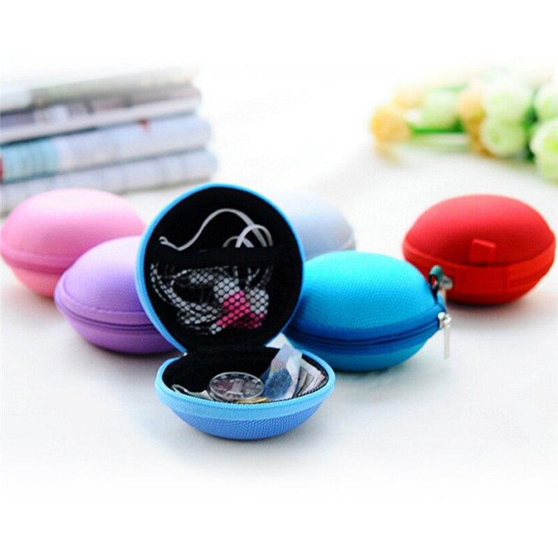 6 Colors Mini Earphone Wire Storage Box Organizer Candy Color Jewelry Box Earphone SD Card Organizer Box For Jewelry